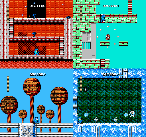 Some stages from Rockman